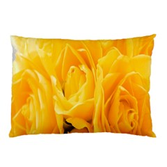 Yellow Neon Flowers Pillow Case by Simbadda