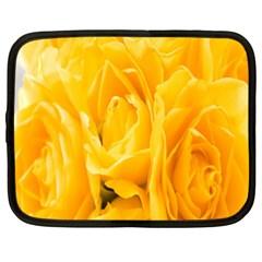 Yellow Neon Flowers Netbook Case (xxl)  by Simbadda