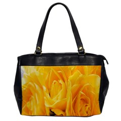 Yellow Neon Flowers Office Handbags by Simbadda