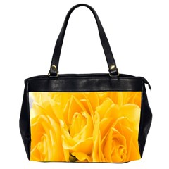Yellow Neon Flowers Office Handbags (2 Sides)  by Simbadda