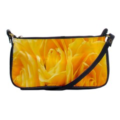 Yellow Neon Flowers Shoulder Clutch Bags by Simbadda