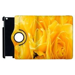 Yellow Neon Flowers Apple Ipad 2 Flip 360 Case by Simbadda