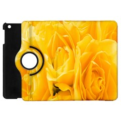 Yellow Neon Flowers Apple Ipad Mini Flip 360 Case by Simbadda