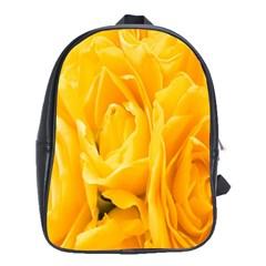 Yellow Neon Flowers School Bags (xl)  by Simbadda