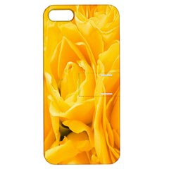 Yellow Neon Flowers Apple Iphone 5 Hardshell Case With Stand