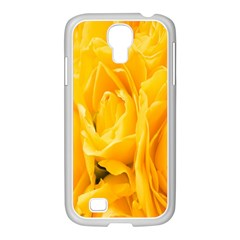 Yellow Neon Flowers Samsung Galaxy S4 I9500/ I9505 Case (white) by Simbadda
