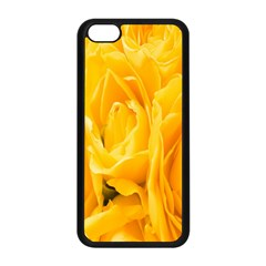 Yellow Neon Flowers Apple Iphone 5c Seamless Case (black) by Simbadda
