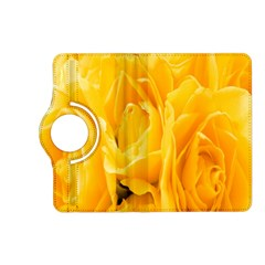 Yellow Neon Flowers Kindle Fire Hd (2013) Flip 360 Case by Simbadda