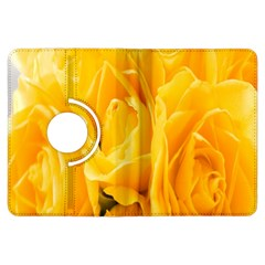 Yellow Neon Flowers Kindle Fire Hdx Flip 360 Case by Simbadda