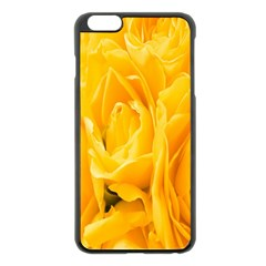 Yellow Neon Flowers Apple Iphone 6 Plus/6s Plus Black Enamel Case by Simbadda