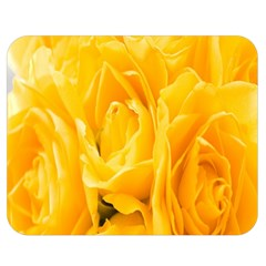 Yellow Neon Flowers Double Sided Flano Blanket (medium)  by Simbadda