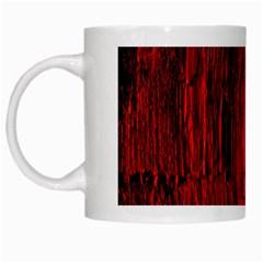 Tunnel Red Black Light White Mugs by Simbadda
