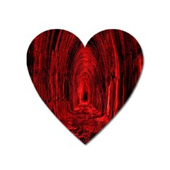 Tunnel Red Black Light Heart Magnet by Simbadda