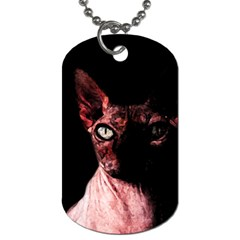 Sphynx Cat Dog Tag (two Sides) by Valentinaart