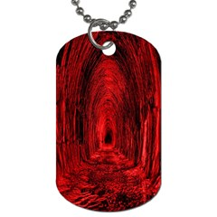 Tunnel Red Black Light Dog Tag (two Sides) by Simbadda