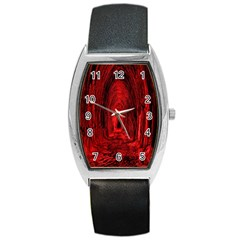 Tunnel Red Black Light Barrel Style Metal Watch by Simbadda