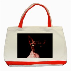 Sphynx Cat Classic Tote Bag (red) by Valentinaart