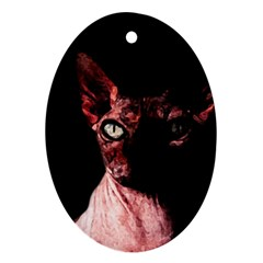 Sphynx Cat Oval Ornament (two Sides) by Valentinaart