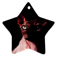 Sphynx Cat Star Ornament (two Sides) by Valentinaart