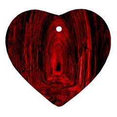 Tunnel Red Black Light Heart Ornament (two Sides) by Simbadda