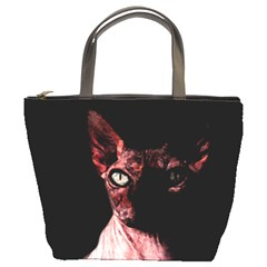 Sphynx Cat Bucket Bags by Valentinaart