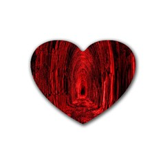 Tunnel Red Black Light Heart Coaster (4 Pack)  by Simbadda