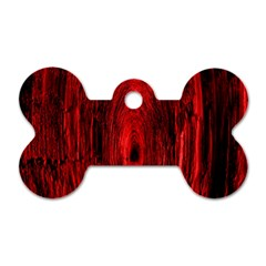 Tunnel Red Black Light Dog Tag Bone (two Sides) by Simbadda