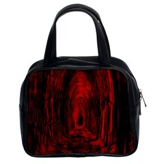 Tunnel Red Black Light Classic Handbags (2 Sides) by Simbadda