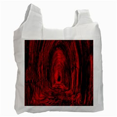 Tunnel Red Black Light Recycle Bag (one Side) by Simbadda