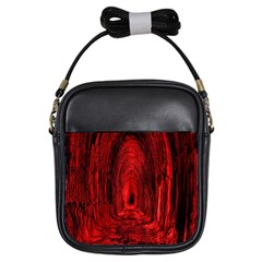 Tunnel Red Black Light Girls Sling Bags by Simbadda
