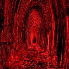 Tunnel Red Black Light Magic Photo Cubes by Simbadda