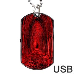 Tunnel Red Black Light Dog Tag Usb Flash (two Sides) by Simbadda