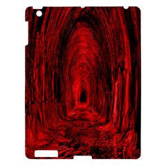 Tunnel Red Black Light Apple Ipad 3/4 Hardshell Case by Simbadda