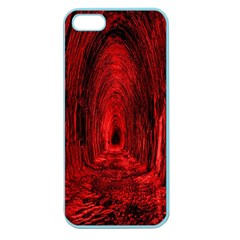 Tunnel Red Black Light Apple Seamless Iphone 5 Case (color) by Simbadda