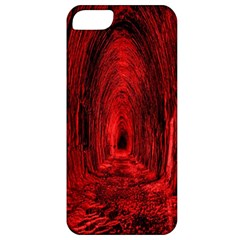 Tunnel Red Black Light Apple Iphone 5 Classic Hardshell Case by Simbadda