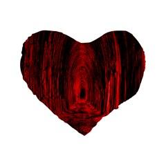 Tunnel Red Black Light Standard 16  Premium Heart Shape Cushions by Simbadda