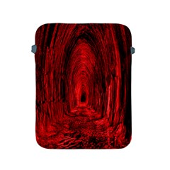 Tunnel Red Black Light Apple Ipad 2/3/4 Protective Soft Cases by Simbadda