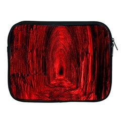 Tunnel Red Black Light Apple Ipad 2/3/4 Zipper Cases by Simbadda