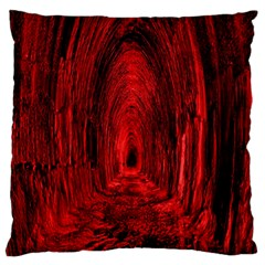 Tunnel Red Black Light Standard Flano Cushion Case (one Side) by Simbadda