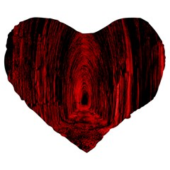 Tunnel Red Black Light Large 19  Premium Flano Heart Shape Cushions by Simbadda