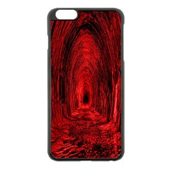 Tunnel Red Black Light Apple Iphone 6 Plus/6s Plus Black Enamel Case by Simbadda