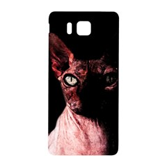 Sphynx Cat Samsung Galaxy Alpha Hardshell Back Case by Valentinaart