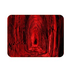 Tunnel Red Black Light Double Sided Flano Blanket (mini)