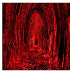 Tunnel Red Black Light Large Satin Scarf (square) by Simbadda