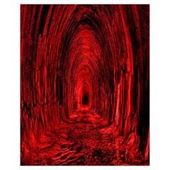 Tunnel Red Black Light Drawstring Bag (small) by Simbadda