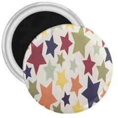 Star Colorful Surface 3  Magnets by Simbadda