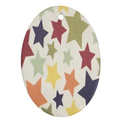 Star Colorful Surface Ornament (oval) by Simbadda