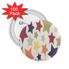 Star Colorful Surface 2 25  Buttons (100 Pack)  by Simbadda
