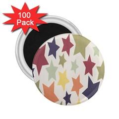 Star Colorful Surface 2 25  Magnets (100 Pack)  by Simbadda