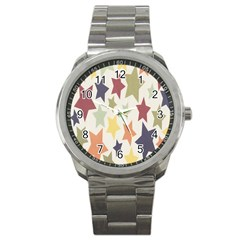 Star Colorful Surface Sport Metal Watch by Simbadda